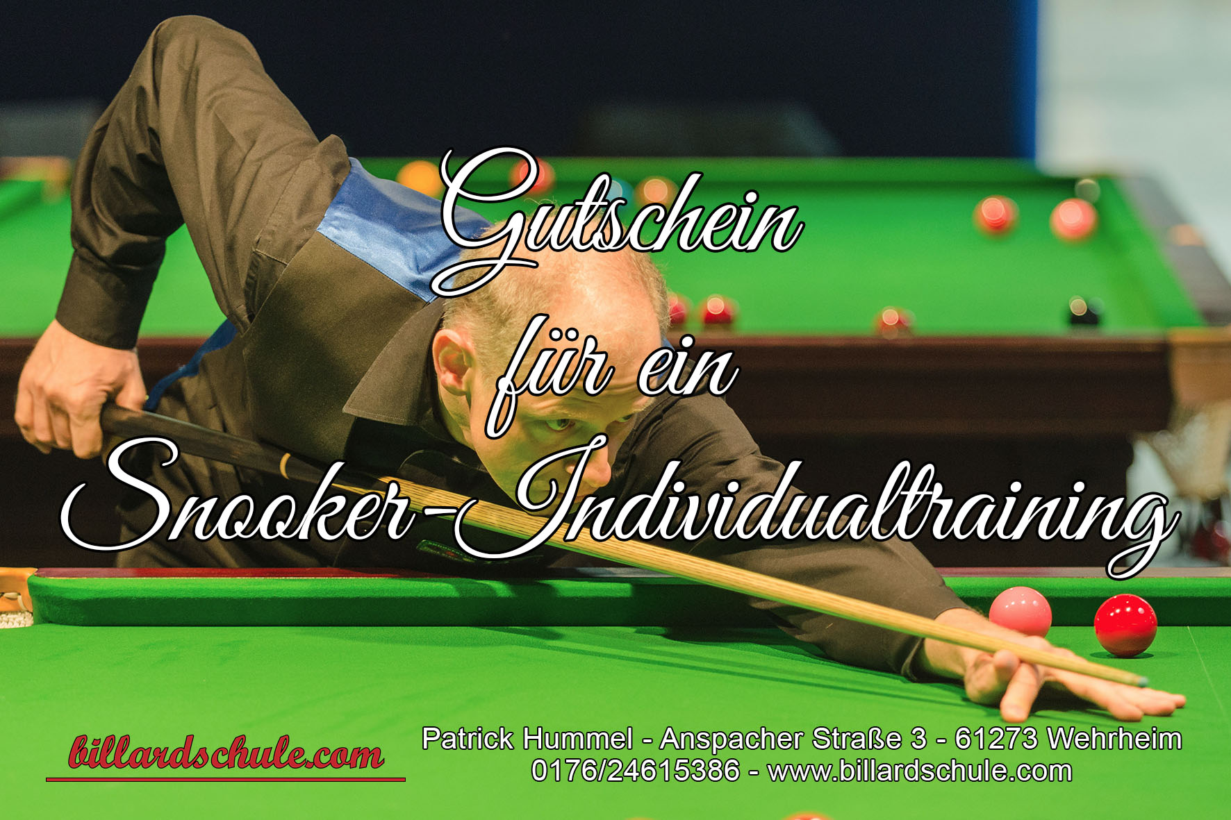 Gutschein Snooker Individualtraining